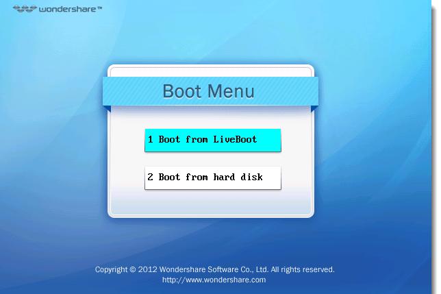 Wondershare LiveBoot 2012 Version 7 [Disco de Emergencia para Recuperar su Sistema Operativo]