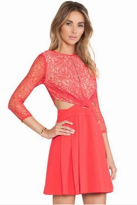 HG074 Cross Lace Flare Dress