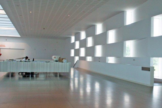 Entrada de LABoral Centro de Arte y Creacion Industrial en Gijon