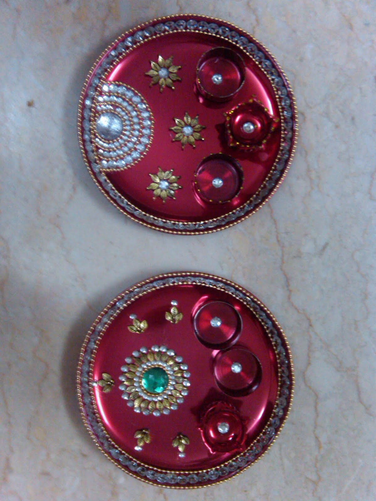 Ranjana arts www ranjanaarts com raksha bandhan aarti for Aarti thali decoration images