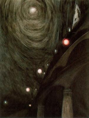 Clar de lluna i llums (Léon Spilliaert)