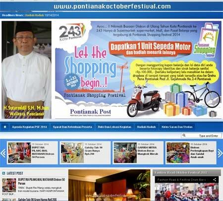 Tampilan depan website PSF 2014