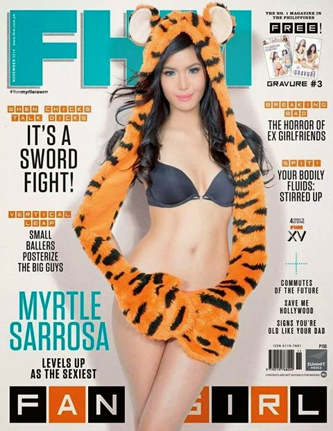 Myrtle Sarrosa covers FHM Philippines November 2014 issue