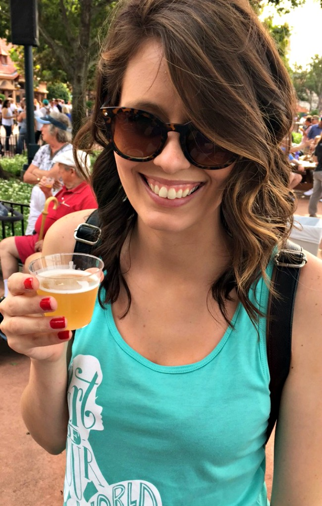 Disney World Recap - beer flight at Epcot during the food & wine festival