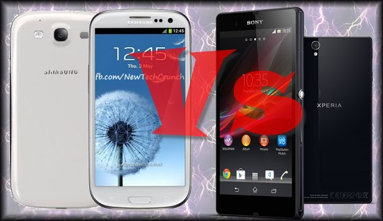 Sony Xperia Z Vs Samsung Galaxy S3