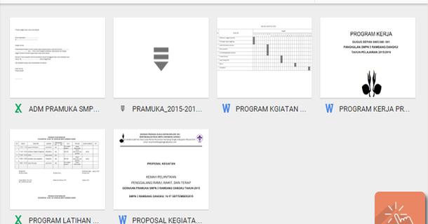 Contoh Administrasi Kegiatan Pramuka Sekolah Smp Media File Pendidikan