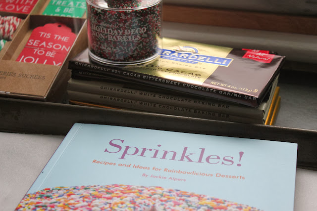 Ingredients for homemade Christmas nonpareils