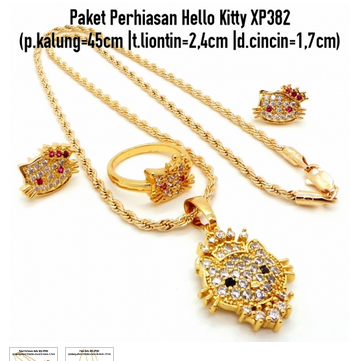Aksesoris: Paket Set Perhiasan Hello Kitty (AHG-395)