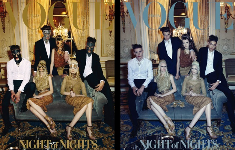 Vogue Italia April 2012: Chrystal Copland, Sojourner Morrell, Thairine Garcia, Lyle Lodwick, Ethan James & Aaron Vernon by Steven Meisel