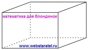 Прямоугольный параллелепипед. Как выглядит прямоугольный параллелепипед. Математика для блондинок.