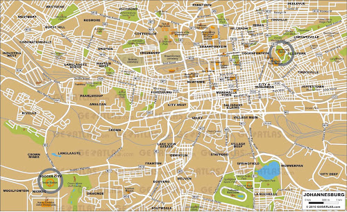 Johanesburgo city map