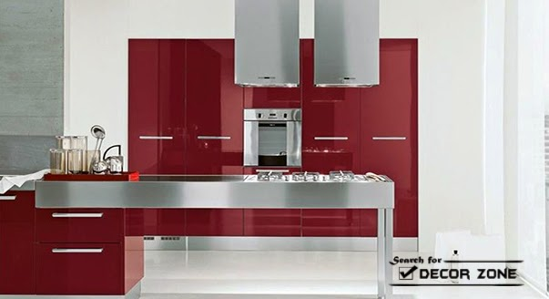 Red kitchen cabinets 15 ideas and designs - Red kitchen white cabinets ...