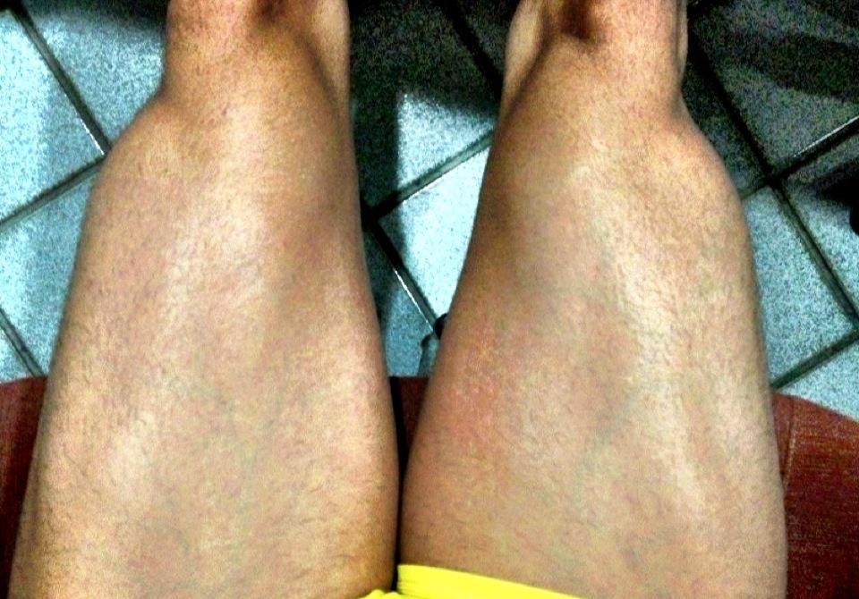 As pernas saradas de Gusttavo Lima - Reprodução / Facebook