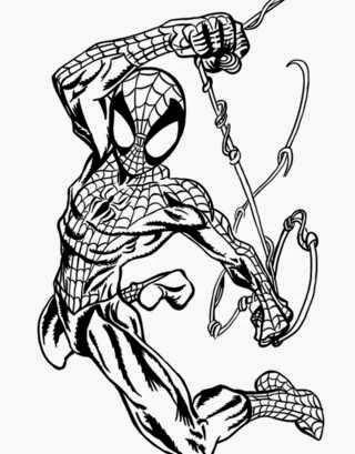 Black coloriage spiderman muscl coloriage en ligne - Coloriage spiderman en ligne ...