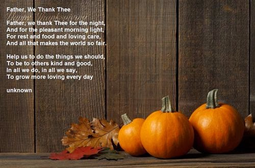 Best Short Thanksgiving Poems For Kids
