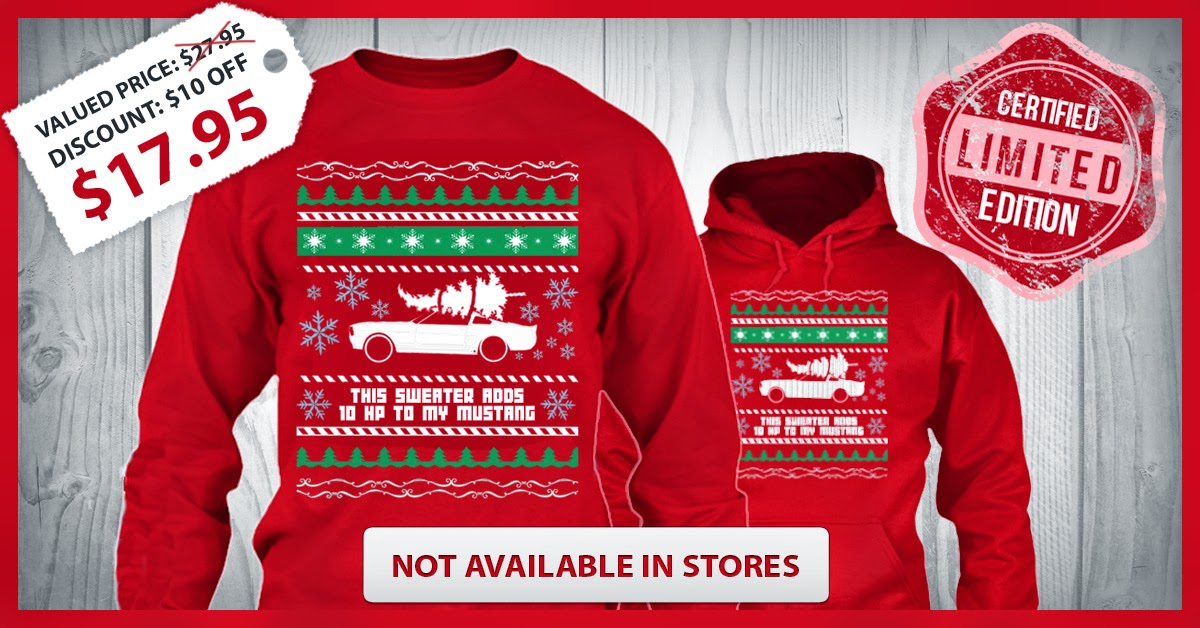 Ugly Christmas Sweater For All Mustang Fans