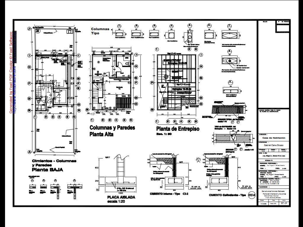Arq miguel a salazar m asociados casas de tipo medio for Planos de arquitectura pdf