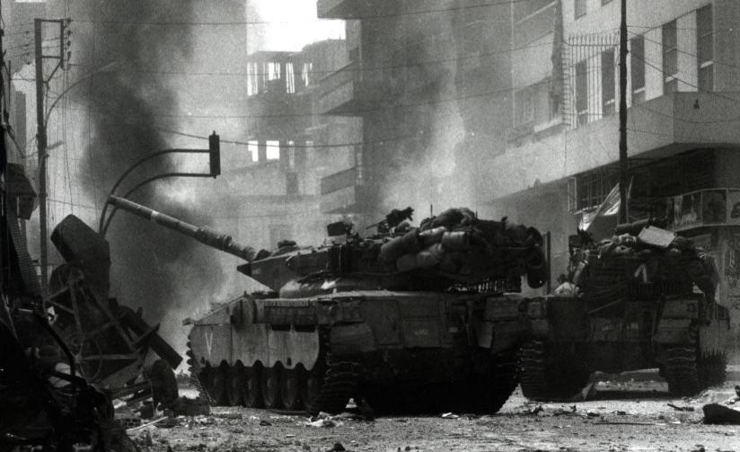 Израильские танки меркава мк1 ведут