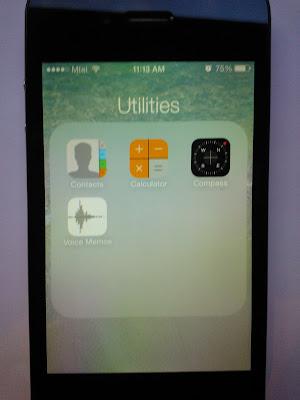 iPhone 4, iOS 7 Utilities screen