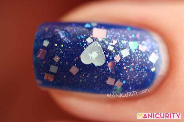 Manicurity | Rainbow Honey The Summer of 199X! - I Miss You (over Revlon Royal)