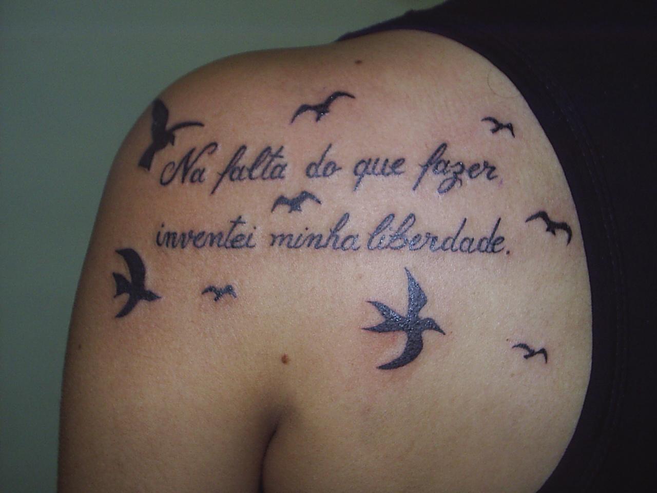Tattoo frase com gaivotas cliente rafaela cultura e liberdade tattoo frase com gaivotas cliente rafaela altavistaventures Gallery