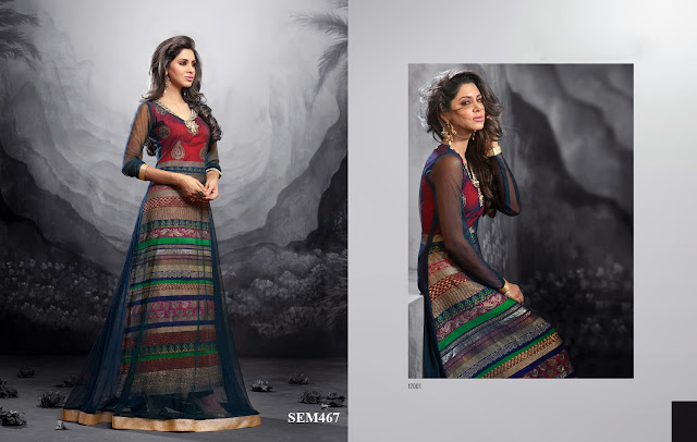 Designer Embroidery Work Pant Style Long Anarkali Suit