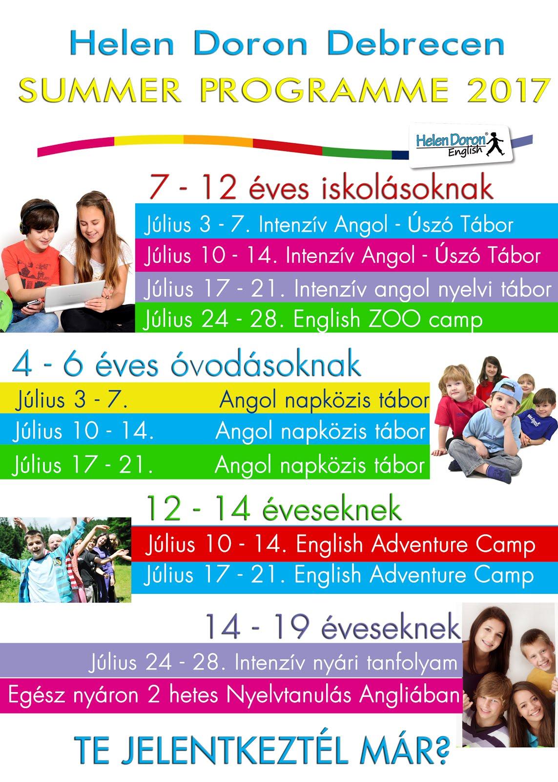Summer Programme 2017