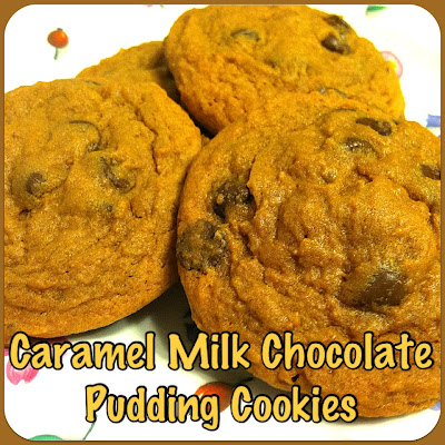 Caramel Milk Chocolate Pudding Cookies