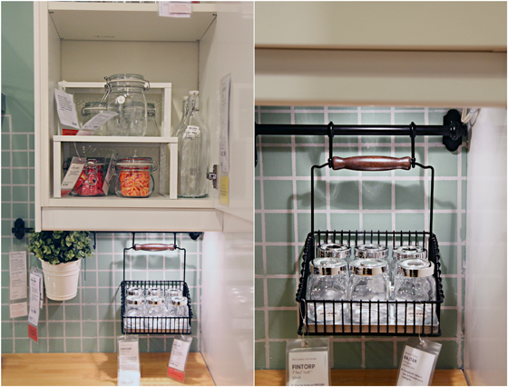 Iheart organizing ikea eye candy storage solutions Ikea hanging kitchen storage