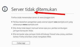 mozilla server not found