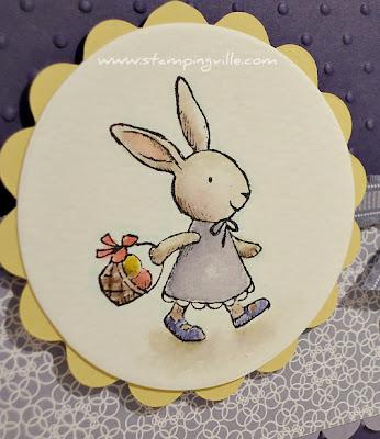 Girl Bunny Watercolored Image Close-up