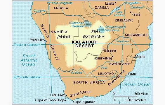 an introduction to the location and environment of the people of kalahari desert