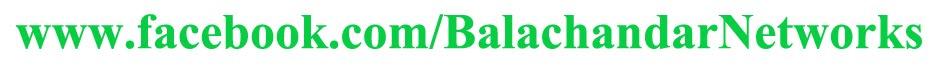 Balachandar Networks