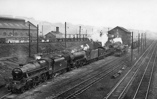 DRUMMOND CAL 57261 AT STIRLING 1963 BRITISH RAIL RAILWAY STEAM PHOTO 1960/'S