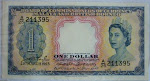 Malaya British Borneo 1 Dollar 1953 (Queen) @RM200
