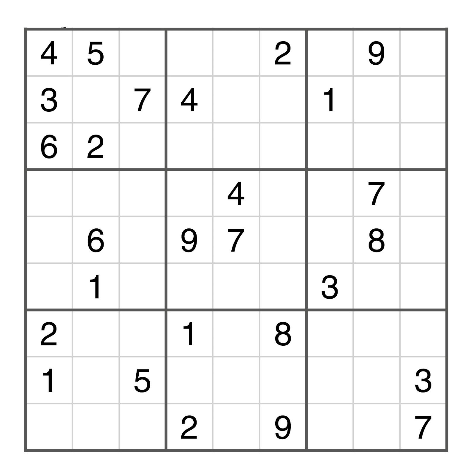 Sudoku gratuit en ligne grille sudoku imprimer sudoku - Grille sudoku a imprimer gratuitement ...
