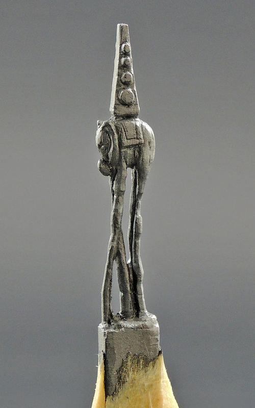02-Space-Elephant-Salvador-Dali-Jasenko-Đorđević-Miniature-Sculptures-in-Pencil-Graphite-Lead-www-designstack-co