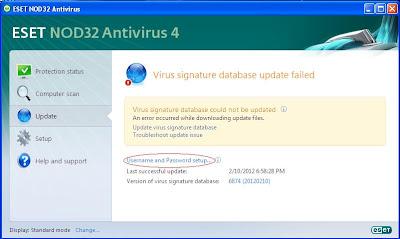 ������ ����� ESET NOD32 Antivirus