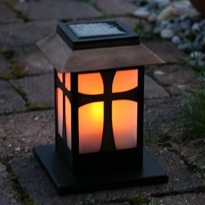 Jard n solar velas de led con placa solar para cementerios - Farol solar para jardin ...
