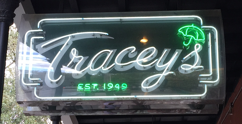 Tracey's Restaurant and Bar on Magazine Street in the Garden District of New Orleans