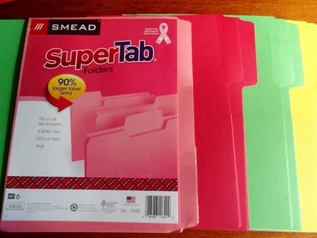 Smead SuperTab file folders MyWAHMPlan.com