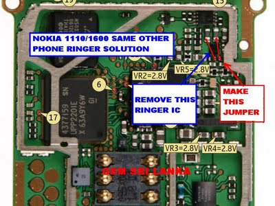 NOkia 1110 1112 1600 Without I.C Ringer Solution