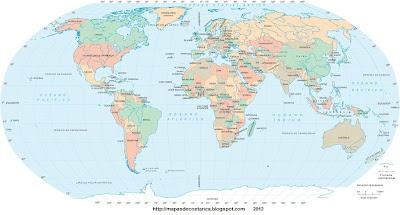 Mapa-mundi ecuador, tropico de cancer, circulo polar