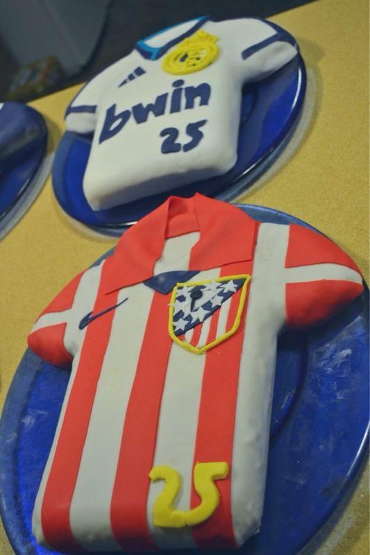 tartas, fondant, Atlético de Madrid, Real Madrid, Tartas Fondant