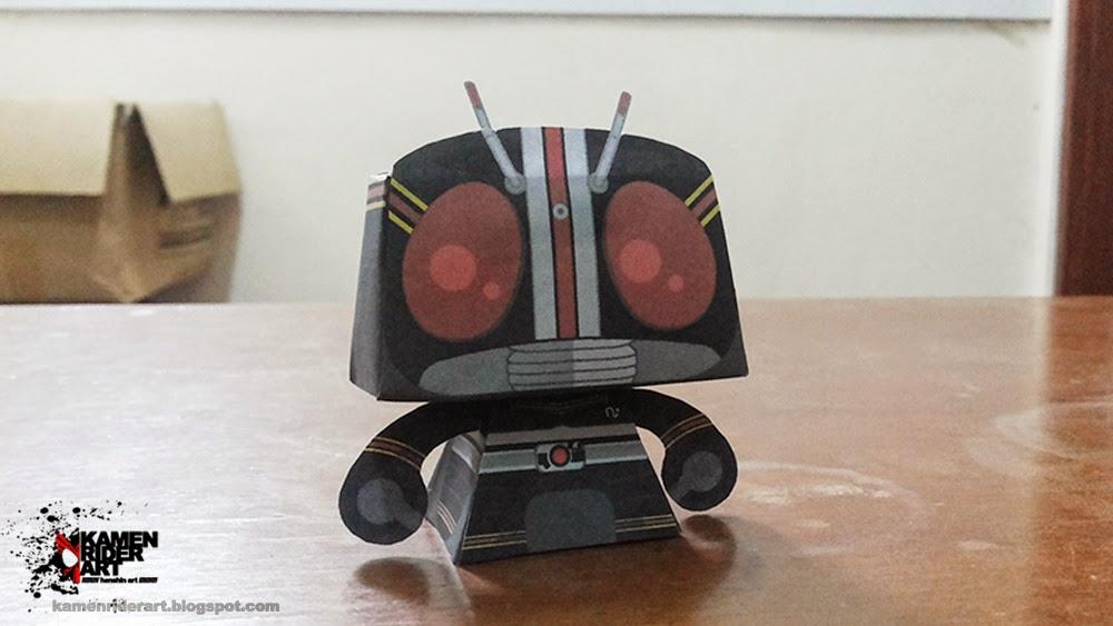 Kamen Ridre Black Paper Toy