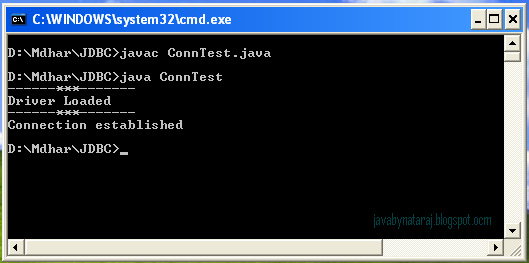 Oracle JDBC Connection Test Output_003