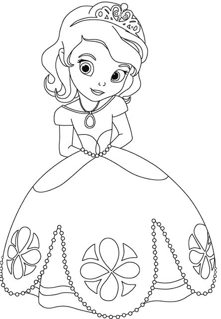 Rayito de Colores: Princesa Sofía para colorear