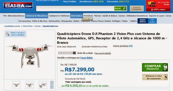 Aonde comprar drone multimotor com garantia