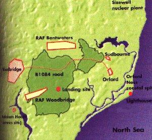 ubicación de las bases de la RAF