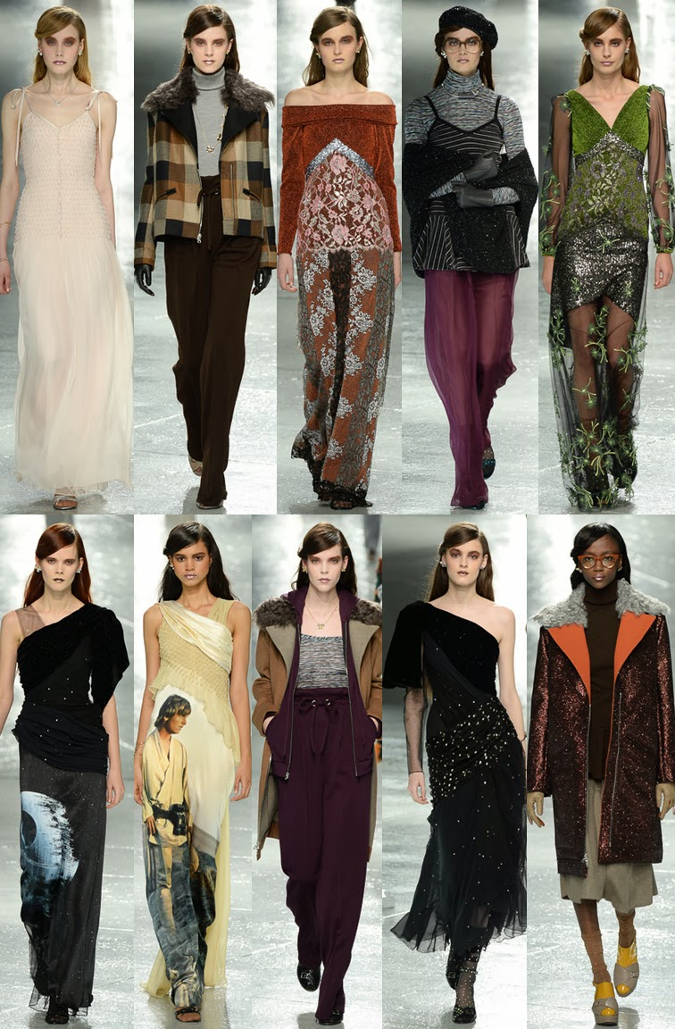 Rodarte fall winter 2014 runway collection, NYFW, Fashion Week, Star Wars, Laura & Kate Mulleavy
